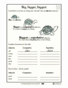 Third Grade Writing Worksheet Awesome Big Bigger Biggest Worksheet for Pre K Kindergarten