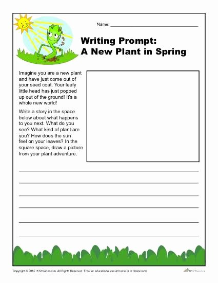 Third Grade Writing Worksheet Beautiful A New Plant In Spring Writing Prompt for 3rd 4th and 5th