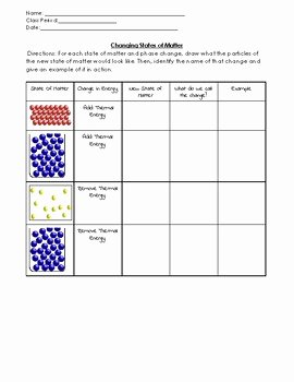 Three States Of Matter Worksheet Awesome Changing States Of Matter Worksheet by Fisching for