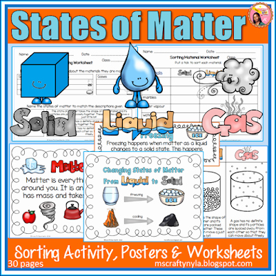 Three States Of Matter Worksheet Awesome Nyla S Crafty Teaching April 2016