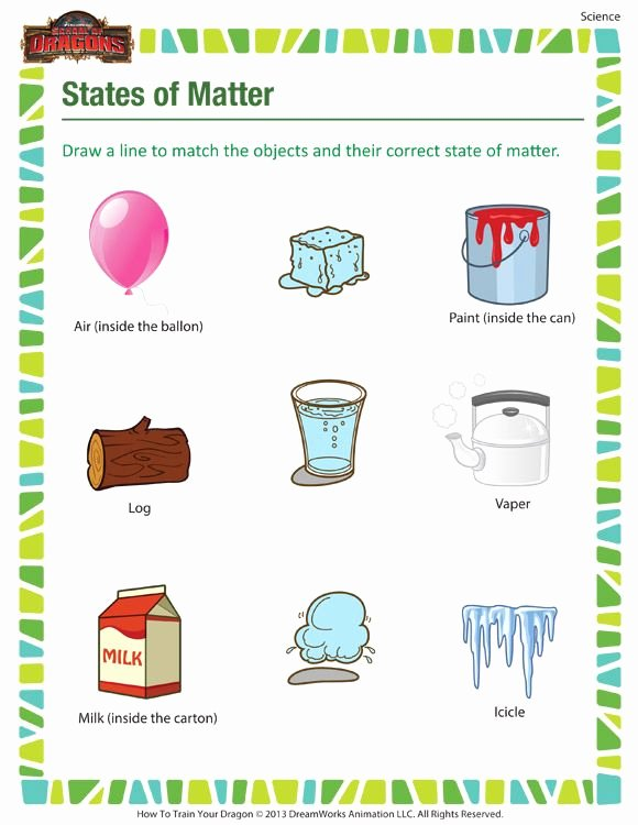 Three States Of Matter Worksheet Beautiful States Of Matter Printable Science Worksheets for 3rd