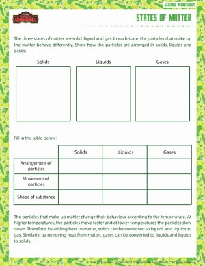 Three States Of Matter Worksheet Best Of States Of Matter – 6th Grade Physical Science Worksheet – sod