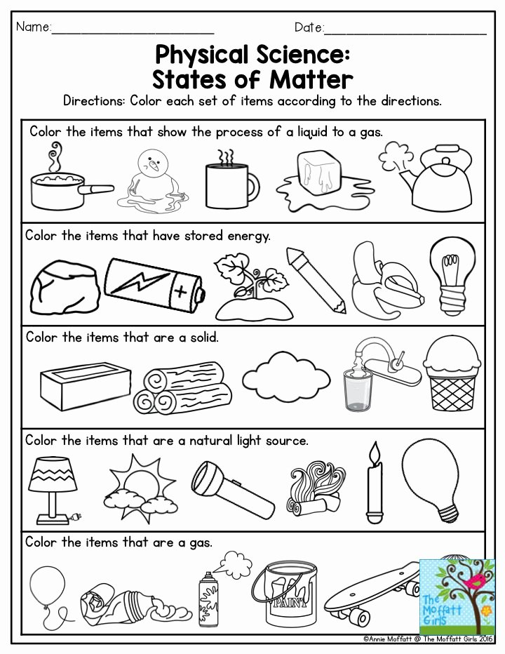 Three States Of Matter Worksheet Fresh 1000 Images About Science Unit 1 Mix Make Use On