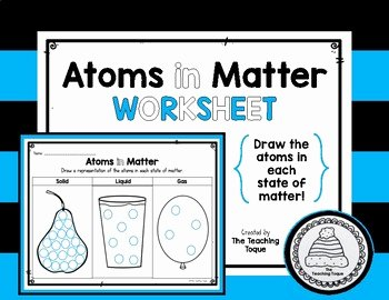 Three States Of Matter Worksheet Lovely atoms In the Three States Of Matter Worksheet by the