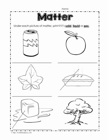 Three States Of Matter Worksheet Luxury solid Liquid or Gas Worksheets