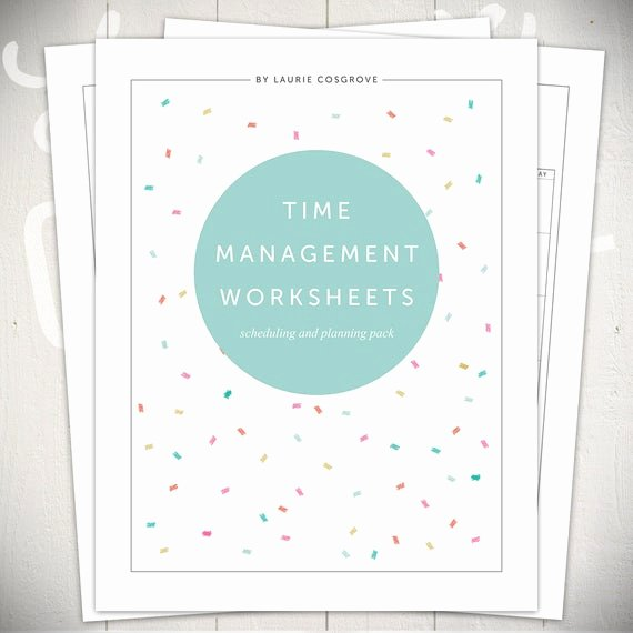 Time Management Worksheet Pdf Beautiful Time Management Worksheets 5 Printable Planners for Daily