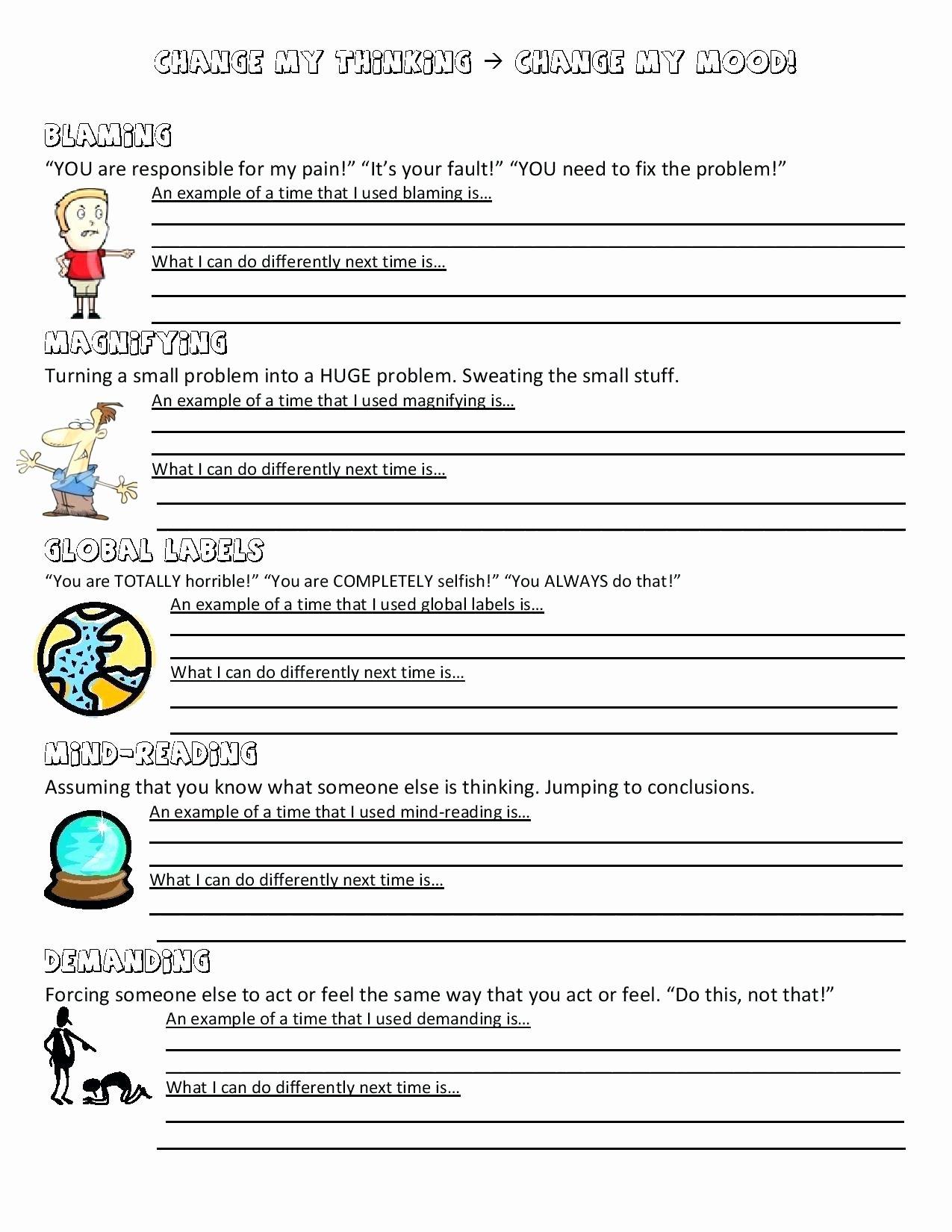 Time Management Worksheet Pdf Inspirational Online Anger Management Activity