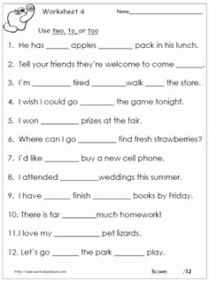 To too Two Worksheet Awesome Circle the Prepositions Worksheet for First Grade Free