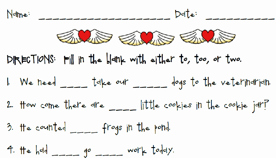 To too Two Worksheet Best Of Printable Worksheets Activity Pages for Teachers with