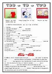 To too Two Worksheet Inspirational English Teaching Worksheets Phonetics