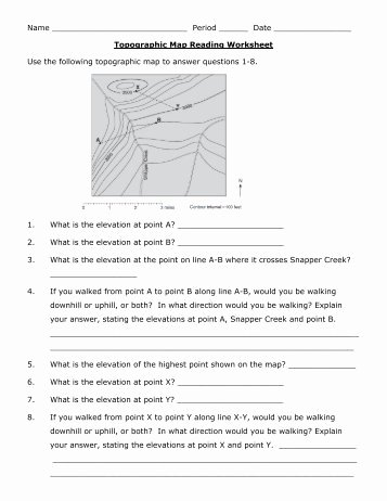 Topographic Map Reading Worksheet Answers Best Of Guiding Questions Worksheet – Weather Patterns Reading