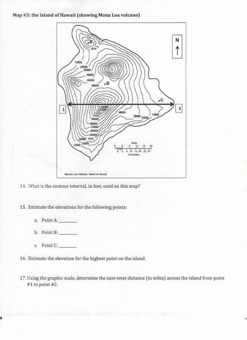 Topographic Map Reading Worksheet Answers Luxury Worksheet Contour Map Worksheet Grass Fedjp Worksheet