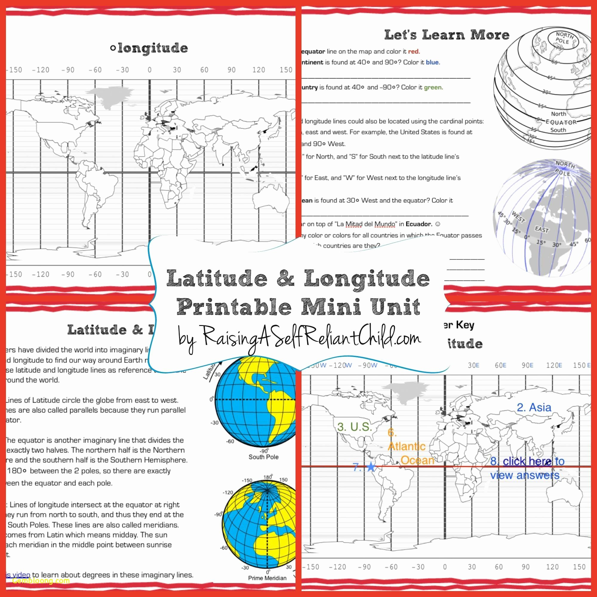 Topographic Map Reading Worksheet New Coordinates Worksheets Cramerforcongress