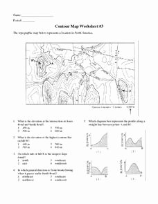 Topographic Map Reading Worksheet Unique Contour Map Worksheet 3 6th 9th Grade Worksheet