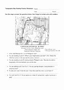 Topographic Map Reading Worksheet Unique Read topographic Map Reading Practice Worksheet