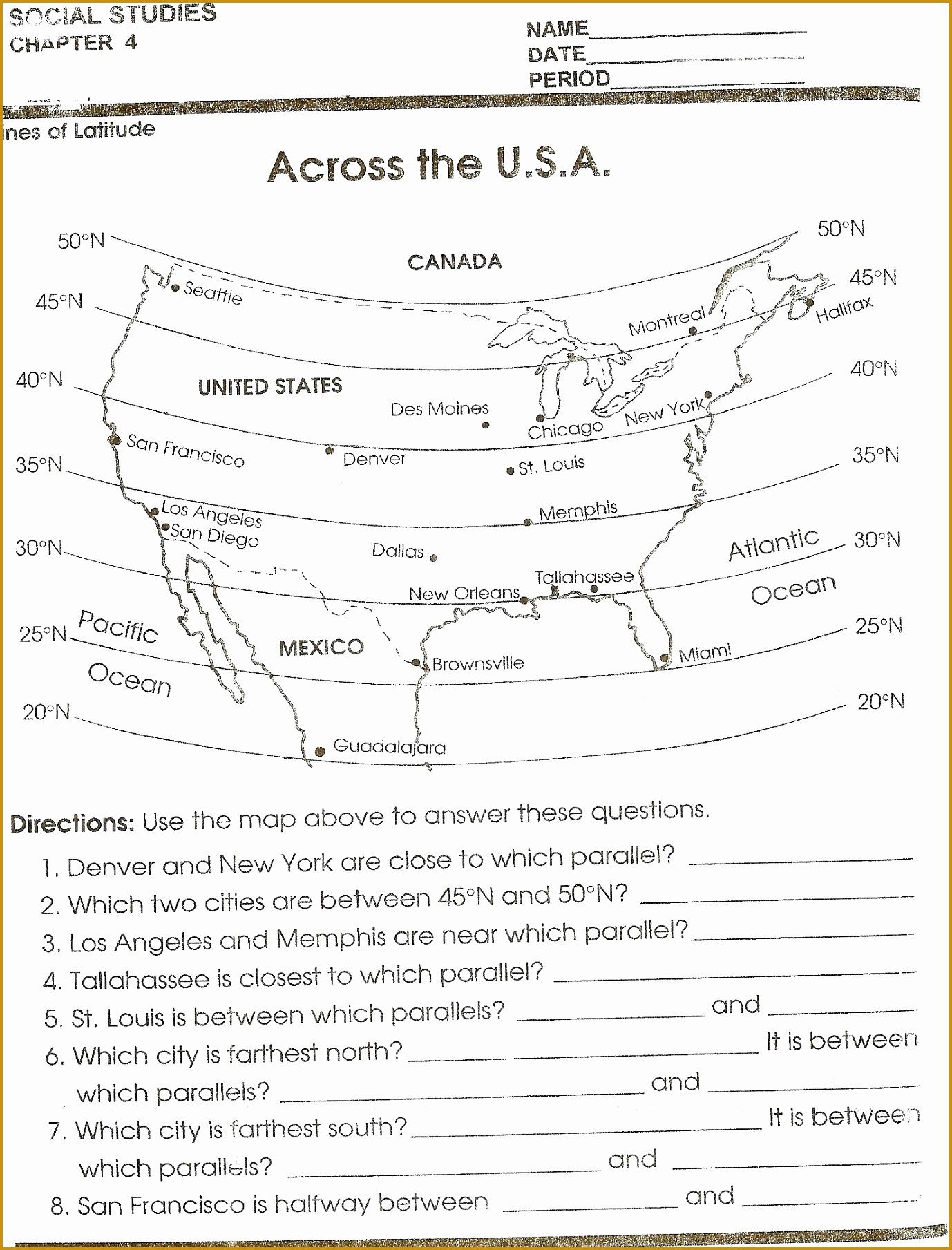 Topographic Map Reading Worksheet Unique topographic Map Worksheet Answer Key