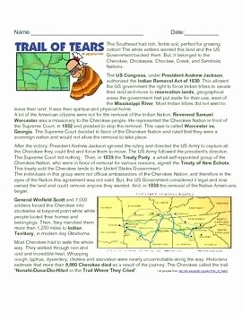 Trail Of Tears Worksheet Awesome 1000 Images About U S History Chapter 9 On Pinterest