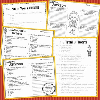 Trail Of Tears Worksheet Awesome Trail Of Tears Informational Text Timeline andrew