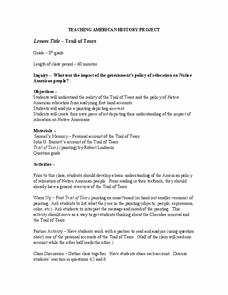 Trail Of Tears Worksheet Beautiful Trail Of Tears Lesson Plans & Worksheets