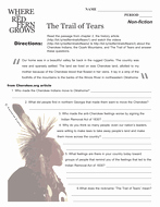 Trail Of Tears Worksheet Beautiful where the Red Fern Grows Unit Teaching Package by