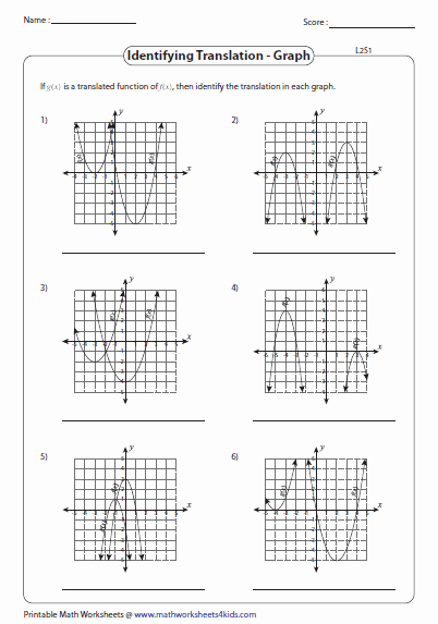Transformations Of Functions Worksheet Answers Lovely Transformation Of Quadratic Function Worksheets