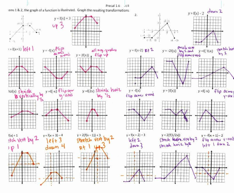 Transformations Of Functions Worksheet Elegant Transformations Functions Worksheet