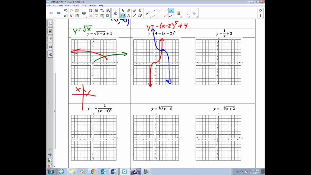 Transformations Of Functions Worksheet Fresh College Algebra Unit 2 5 Worksheet Graphing