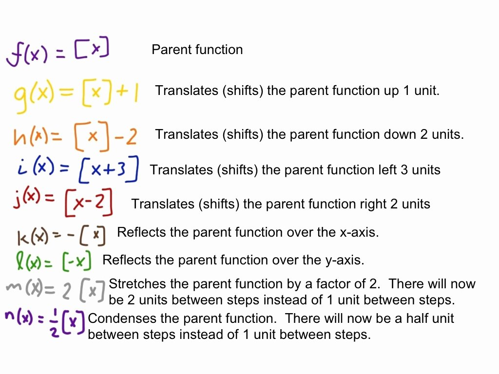 Transformations Of Functions Worksheet Lovely Transformations Of the Greatest Integer Function Step