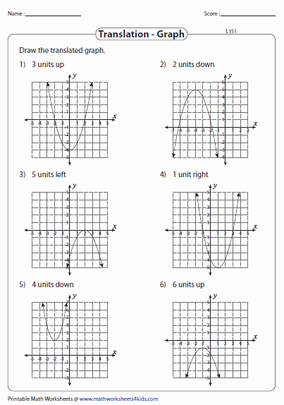 Transformations Of Graphs Worksheet Fresh Transformation Of Quadratic Function Worksheets