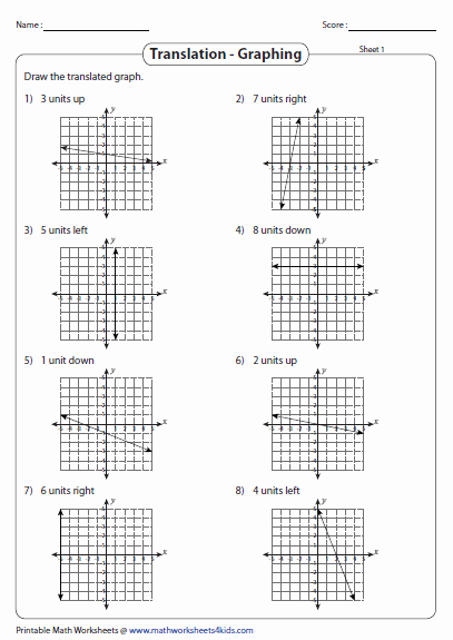Transformations Of Graphs Worksheet Lovely Transformation Of A Linear Function Worksheets