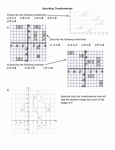 Transformations Of Graphs Worksheet Luxury Describing Transformations Worksheets by Jhofmannmaths