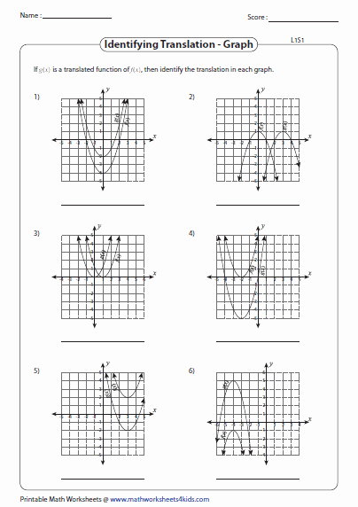Transformations Of Graphs Worksheet New Transformation Of Quadratic Function Worksheets