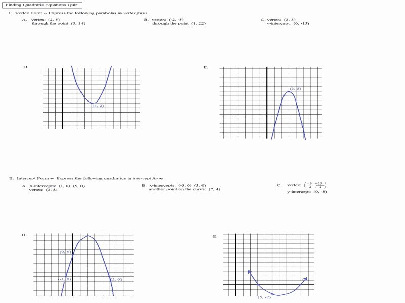 Transformations Of Quadratic Functions Worksheet Beautiful Transformations Quadratic Functions Worksheet Free