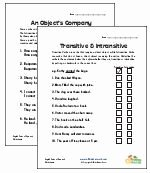 Transitive and Intransitive Verb Worksheet Awesome Transitive and Intransitive Verb Worksheets Verbs