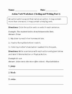 Transitive and Intransitive Verb Worksheet Awesome Transitive or Intransitive Action Verbs Worksheet
