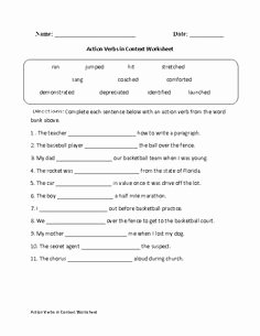 Transitive and Intransitive Verb Worksheet New Transitive or Intransitive Action Verbs Worksheet