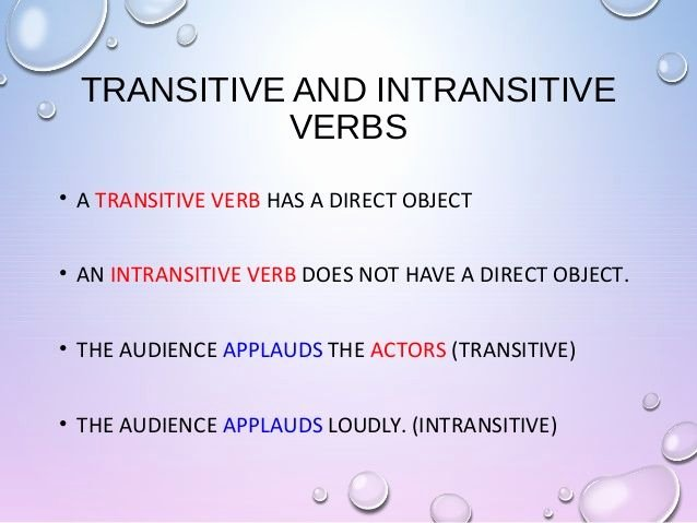 Transitive and Intransitive Verb Worksheet New Transitive Verb Examples Google Search