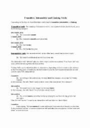 Transitive and Intransitive Verbs Worksheet Best Of Transitive and Intransitive Verbs Worksheets