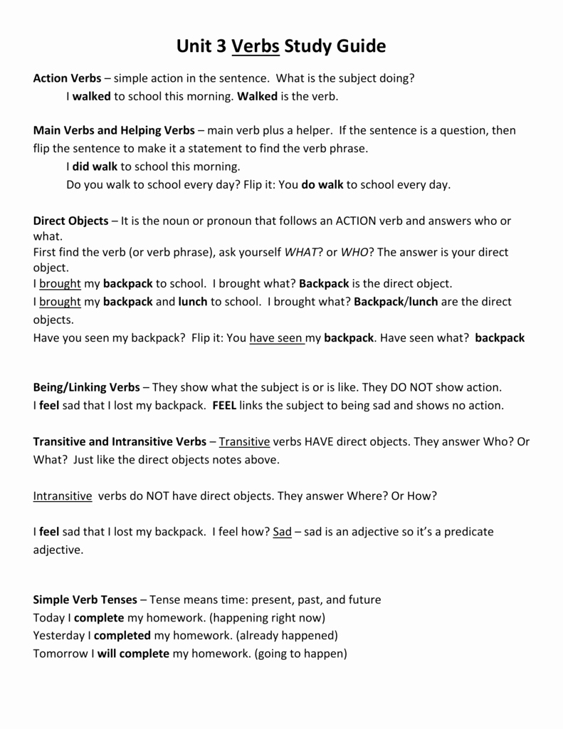 Transitive and Intransitive Verbs Worksheet Elegant Worksheet Transitive and Intransitive Verbs with
