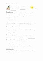 Transitive and Intransitive Verbs Worksheet Inspirational Transitive and Intransitive Verbs Worksheets