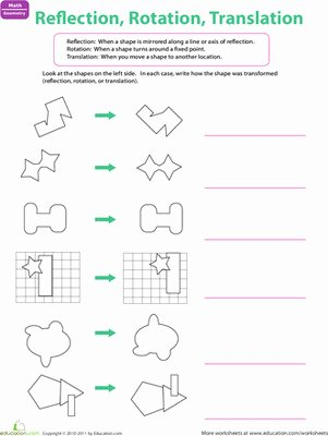 Translation Rotation Reflection Worksheet Awesome Rotations Worksheet