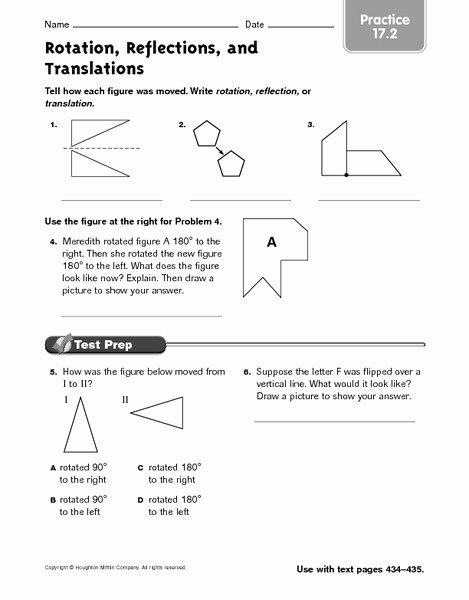 Translation Rotation Reflection Worksheet Best Of Rotation Reflections and Translations Practice 17 2
