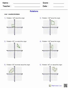 Translation Rotation Reflection Worksheet Elegant 1000 Images About Math Reflections Rotations Translations