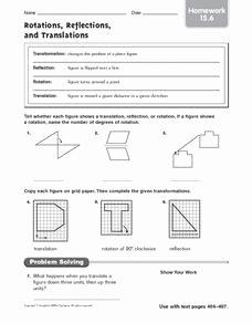 Translation Rotation Reflection Worksheet Fresh Rotations Reflections and Translations Homework
