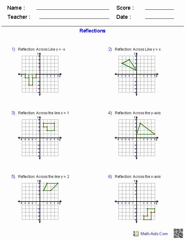 Translation Rotation Reflection Worksheet Luxury Geometry Worksheets