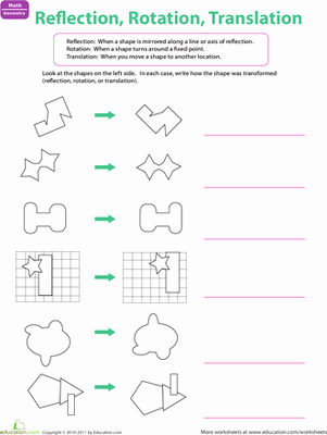 Translations Reflections and Rotations Worksheet Elegant Reflection Rotation Translation Worksheet