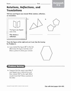 Translations Reflections and Rotations Worksheet Inspirational Rotations Reflections and Translations Homework 17 2