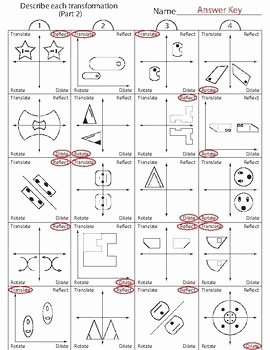 Translations Reflections and Rotations Worksheet Inspirational Transformations Worksheet Part 2