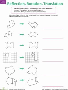 Translations Reflections and Rotations Worksheet Lovely Geometry Worksheets