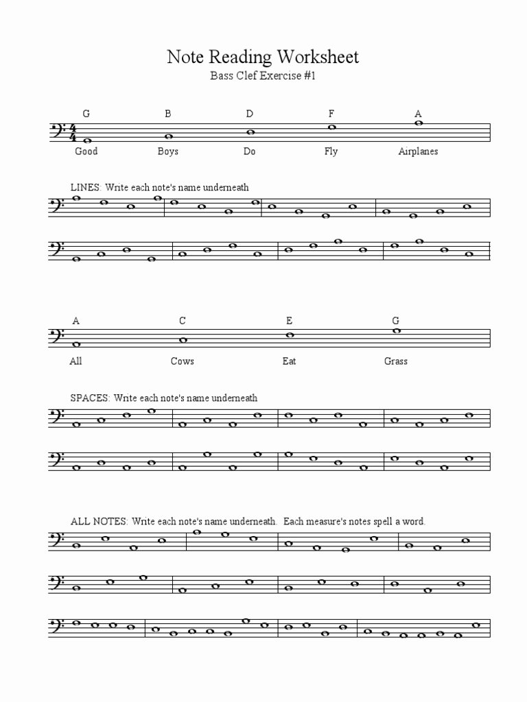 Treble Clef Note Worksheet Beautiful Name the Notes the Treble Clef Worksheets